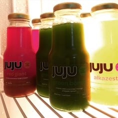 Cold-pressed fresh juice from JUJU Cleanse.