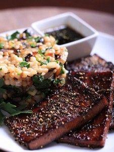 Black Pepper and Thyme Crusted Tofu