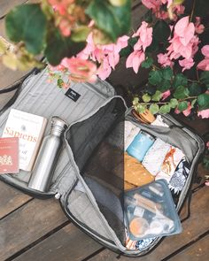 Eco Friendly Travel Backpack: PAKT Eco Friendly Travel Backpack: PAKT Want to know what is in my travel backpack? We've packed all Backpack Travel Bag, Travel Bags, Travel Flatlay, Travel Items, Minimal Travel, Travel Bag Essentials, On The Road Again, Bag Making, Hidden Compartments