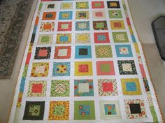Looking for quilting project inspiration? Check out Moda Frolic fabric, square in a square by member Crafty Stitches. - via @Craftsy