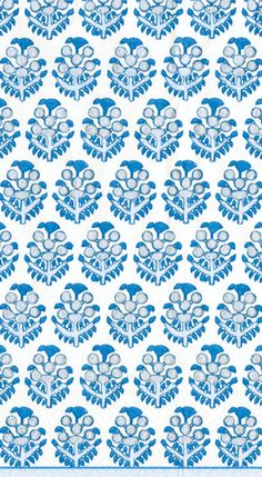 Caspari Pareo blue South Pacific Fabric Design Printed 3-Ply Paper Guest Towels Wholesale 12520G