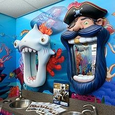 Decoración de consulta de dentista pediátrico