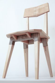 Span Chair - Sycamore & Concrete by George Winks, via Behance