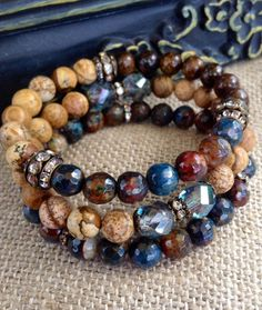 Fire Agate Stack  Bracelet Trio  Fabulous by CountryChicCharms, $68.00