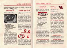 Pages 6 & 7 - Main Dish Ideas - Click To View Larger