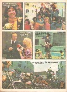 """Trés rare dans les pages de """"pif gadget"""" n° 313 paru le 24/02/1975, voici un roman photo issu du film """" Un jour la féte """" avec Michel Fugain et le Big Bazar réalisé par Pierre Sisser."""