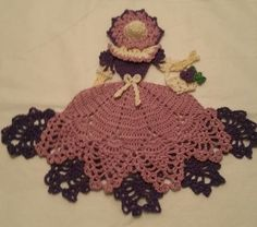 Crochet Crinoline Lady with Basket US $13.50 New in Collectibles, Linens & Textiles (1930-Now), Lace, Crochet & Doilies
