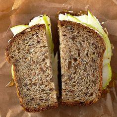 Sandwiches: Cream Cheese, Pear, Honey