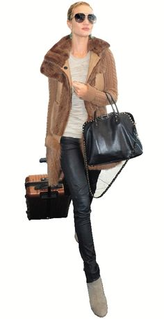 boots, knit, leather, fur