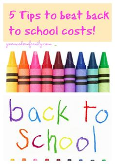 5 money saving tips for shopping for back to school items!   CAN'T MISS THIS ONE!