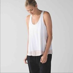 All tied up tank White with shimmer. Work twice. I can sell both this and the grey shimmer a bundle and save you shipping. lululemon athletica Tops Tank Tops