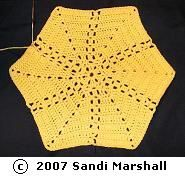 Sun Rays Hexagon Six-Sided Motif Free Crochet Pattern
