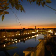 Sunset in Pisa