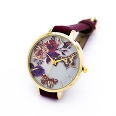 Butterfly garden strap watch (3 colors)