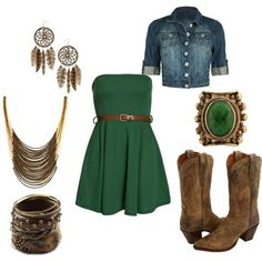 Country outfit outfits-with-green