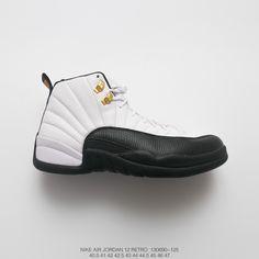 b413dfafa8dc Jordan 1 2 Air Jordan 12 Taxi Aj12 Joe 12 Black And White Gold Buckle High