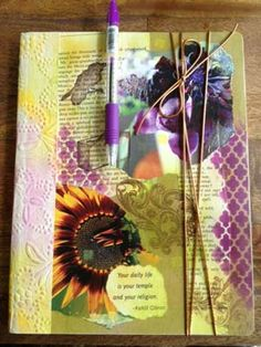 My new Morning Pages Journal: Front Cover Art Crafts, Arts And Crafts, Morning Pages, Art Journaling, Love Art, Planners, Collage, Cover, Blog