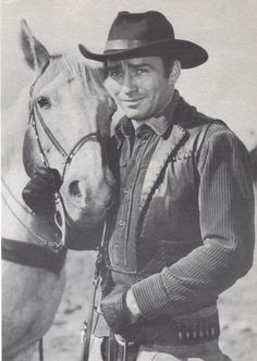 The Virginian is an American Western television series starring James Drury and Doug McClure, which aired on NBC from 1962 to 1971 for a total of 249 episodes. Related to James Drury through my great-grandmother Elisabeth Drury Morse. Old Western Actors, Western Movies, Western Film, Western Theme, Cowboy Western, Doug Mcclure, James Drury, Hot Cowboys, Vintage Television