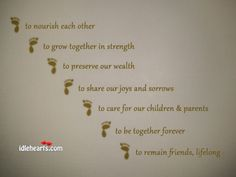 Seven Steps / Vows in the Hindu Wedding / Marriage - Saptapadi