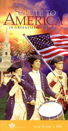 Salute to America- symphony and fireworks program in early July at Greenfield Village. I've been many times and it is a super venue combining classic American music and beautiful fireworks at the end. The spirit of America comes alive.