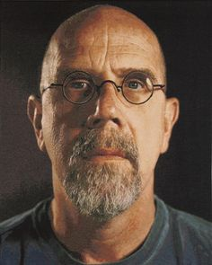"""Charles Thomas """"Chuck"""" Close (born July 5, 1940, Monroe, Washington) is an American painter and photographer who achieved fame as a photorealist, through his massive-scale portraits.     Though a catastrophic spinal artery collapse in 1988 left him severely paralyzed; however, he has continued to paint and produce work that remains sought after by museums and collectors across the globe."""