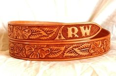 Handmade Western leather belt patterns. Lone Tree Leather Works creates their own unique floral and geometric belt patterns for distinct and highly attractive appearance. Our Cowboy Classic pattern is our most popular closely followed by the Western Mix, the Arrowhead and Basket weave. If you have something unique in mind, contact us for a custom leather belt design. We also offer options to have your name, initials or a ranch brand carved into your hand tooled leather belt.-SR