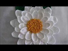 Flor Copo de Leite em Crochê para Aplicação - YouTube