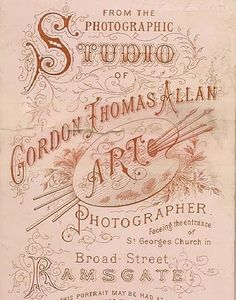 Gordon Thomas ALLEN, Art photographer, Ramsgate, UK