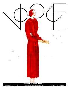 Portada Revista Vogue. GEORGE LEPAPE. PARIS (1887-1971). 1929. Colección privada.