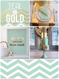Teal U0026 Gold! The Inspiationarium | Design Inspiration