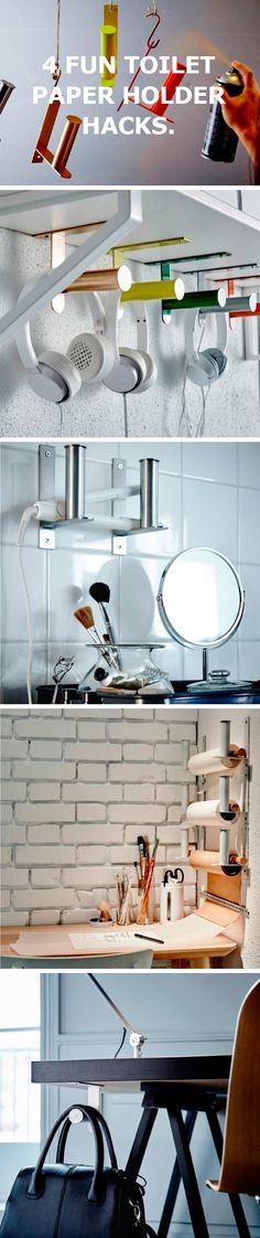 Here are 4 fun toilet paper holder hacks. More