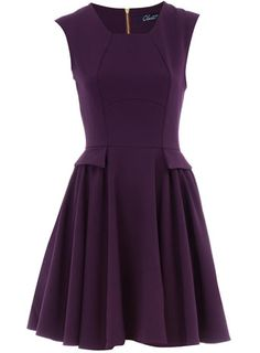 Amazing rich purple dress. This could be worn season after season.