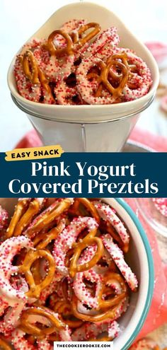 These yogurt covered pretzels are a go-to snack recipe for all parties and occasions. Everyone loves them, kids and adults alike. Make them in any color to fit the party theme! Game Day Appetizers, Appetizer Recipes, Snack Recipes, Yogurt Covered Pretzels, Dipped Pretzels, Best Christmas Recipes, Holiday Recipes, Homemade Yogurt, Game Day Food