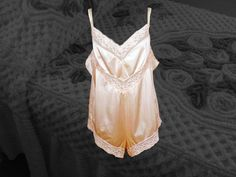 Plus Size Vintage Nylon Teddy, XL Pale Pink Chemise with Lace, Authentic 70s Retro Nylon Lingerie, Snap Gusset, Lacy Legs, Sexy Frillies Pink Lace, Pale Pink, Seersucker Shorts, Plus Size Vintage, Vintage Lingerie, Loungewear, Vintage Fashion, Legs, Retro