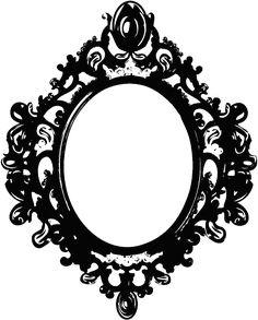 Black mirror frame by BerryKissed.deviantart.com on @DeviantArt