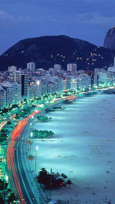Copacabana Beach at Rio De Janeiro, Brazil