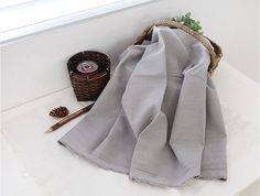 Cotton Fabric Solid Color Light Grey By the Yard by SunFabrics, $9.85