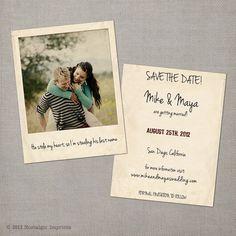 Vintage Save the Date Cards (by Nostalgic Imprints via EmmalineBride.com)