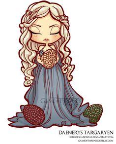 Daenerys Targaryen with dragon eggs // Game of Thrones cosplay group http://www.gameofthronescosplay.com | by Sara Manca http://heiligershadowfax.deviantart.com/