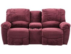 Slumberland | La Z Boy Hayes Collection - Garnet Console Loveseat
