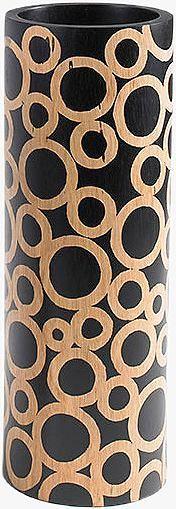 Artikeldetails:  Mango-Vase aus Holz, Hochwertige Verarbeitung, Farbe: braun,  Maße:  Maße (Ø/H): 10/35 cm,  ...