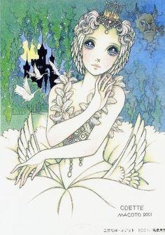 """Odette from """"Swan Lake"""" ballet by manga artist Macoto Takahashi. Manga Artist, Manga Anime, Macoto Takahashi Art, Fantasy Art, Art, Shojo Manga, Anime Style, Cute Illustration, Aesthetic Anime"""