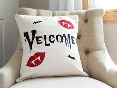 Velcome Halloween pillow cover - Halloween Pillows - Halloween Pillow Cover…
