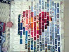 Heart quilt....in progress...