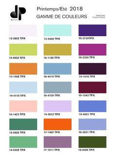 Paleta colores Moda 2018