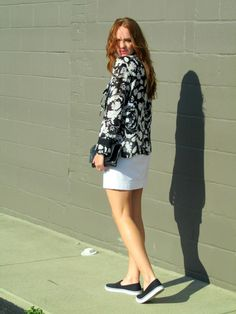 Pair a floral print with sneakers for a trendy casual look. Affordable stylish outfits at marahcar.com!