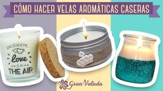 Diy Candles, Candle Jars, Crafts To Sell, Diy And Crafts, Velas Diy, Communion Centerpieces, Perfume, Candels, Natural Cosmetics