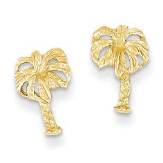 14k Palm Tree Post Earrings TC566
