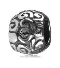 This beautiful artistic .925 Sterling Silver European charm fits Pandora, Biagi Trollbeads, Chamilia, and most charm bracelets find out more at adabele.com