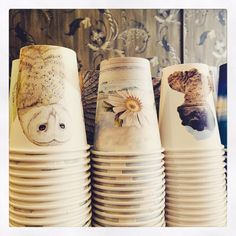 Gorgeous take away cups at Artizan. Small, family run cafe just next door to a Hudsons (urgh) on Liverpool St, Hobart. Baristas were beautifully turned out in vests and bow ties! #coffee #cafelifestyle #hobart #travel
